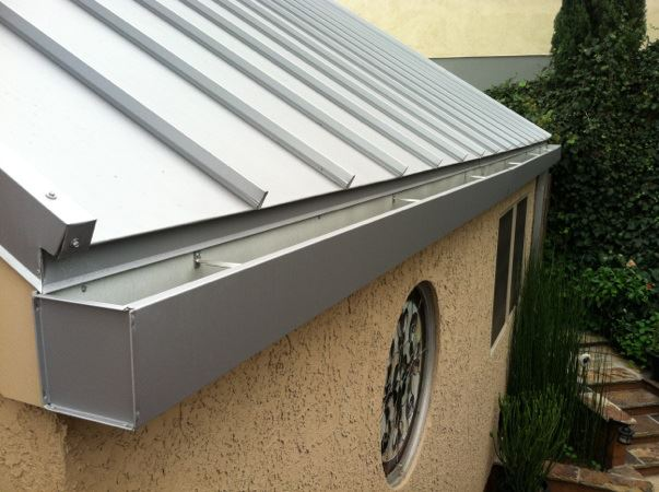 Metal Roof and Gutter in La Habra Heights