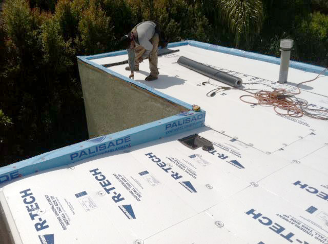 Flat Roof in progress in La Verne